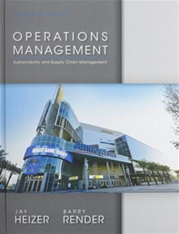 Operations Management, by Heizer, 11th Edition 11 w/CD 9780133408010