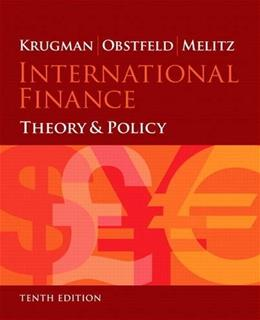 International Finance: Theory and Policy, by Krugman, 10th Edition 9780133423631