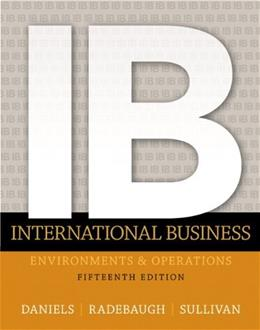 INTERNATIONAL BUSINESS 15 9780133457230