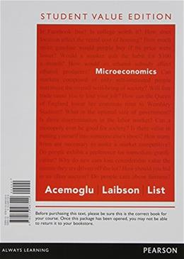 Microeconomics, by Acemoglu, Student Value Edition 9780133487220
