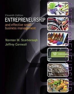 Entrepreneurship and Effective Small Business Management (11th Edition) 9780133506327