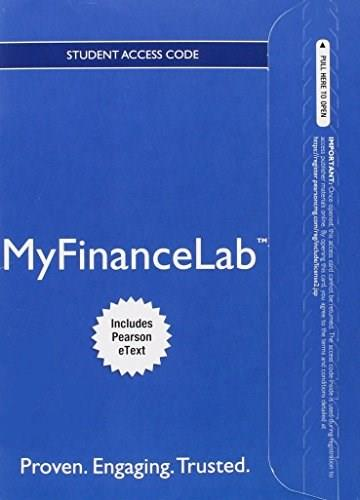 MyFinanceLab with Pearson eText for Fundamentals of Corporate Finance, by Berk, 3rd Edition, Access Code Only 3 PKG 9780133543889