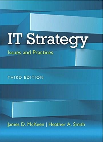 IT Strategy: Issues and Practices, by McKeen, 3rd Edition 9780133544244
