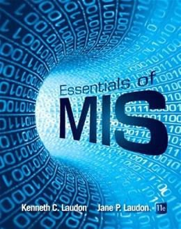 Essentials of MIS (11th Edition) 9780133576849