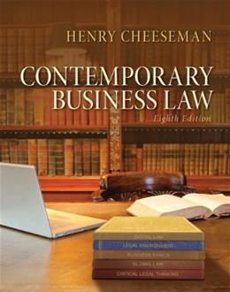 Contemporary Business Law (8th Edition) 9780133578164
