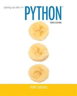 Starting Out with Python (3rd Edition) 3 PKG 9780133582734