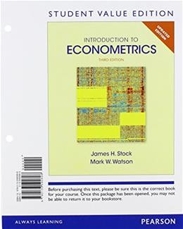 Introduction to Econometrics, Update, by Stock, 3rd Student Value Edition 9780133592696