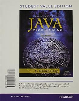 Intro to Java Programming, Comprehensive Version, by Liang, 10th Student Value Edition 9780133593495