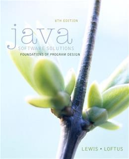 Java Software Solutions (8th Edition) 8 PKG 9780133594959
