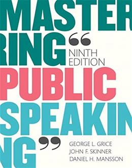Mastering Public Speaking (9th Edition) 9780133753837