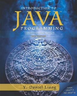 Intro to Java Programming, Comprehensive Version 10 9780133761313
