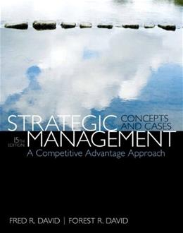 Strategic Management: A Competitive Advantage Approach, Concepts and Cases, by David, 15th Edition 15 PKG 9780133768763