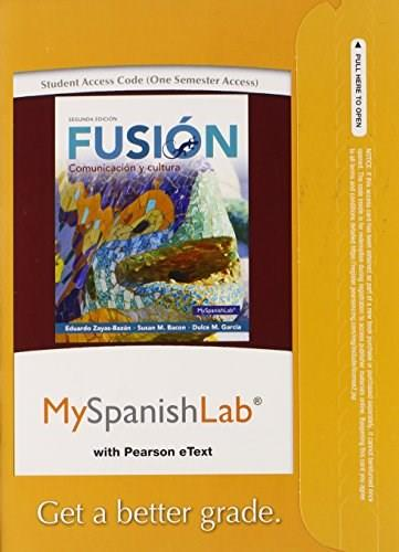 MySpanishLab with Pearson eText -- Access Card -- for Fusion (one semester access) (2nd Edition) 9780133778168