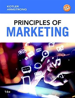 Principles of Marketing, by Kotler, 16th Edition 9780133795028