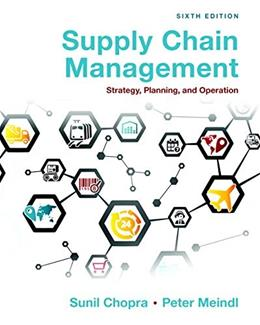 Supply Chain Management: Strategy, Planning, and Operation (6th Edition) 9780133800203