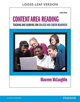 Content Area Reading: Teaching and Learning for College and Career Readiness, by McLaughlin, 2nd Edition 2 PKG 9780133830958