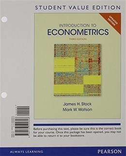 Introduction to Econometrics, Update, by Stock, 3rd Student Value Edition 3 PKG 9780133848915