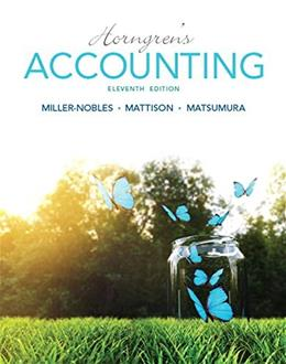 Horngrens Accounting (11th Edition) 9780133856781