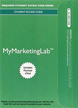 MyLab Marketing with Pearson eText - Access Card - for Principles of Marketing PKG 9780133862096