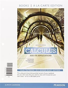 Calculus and Its Applications, Books a la Carte Plus MyLab Math Access Card Package (11th Edition) 11 PKG 9780133862386