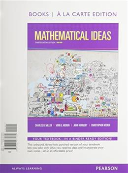 Mathematical Ideas, Bools a la Carte Edition plus NEW MyMathLab with Pearson eText -- Access Card Package (13th Edition) 13 PKG 9780133865462