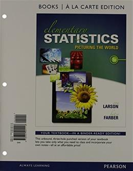 Elementary Statistics Books a la carte Plus NEW MyLab Statistics  with Pearson eText -- Access Card Package (6th Edition) 6 PKG 9780133876239