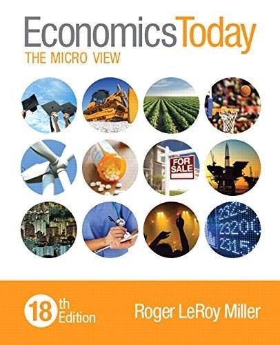 Economics Today: The Micro View (18th Edition) 9780133885071