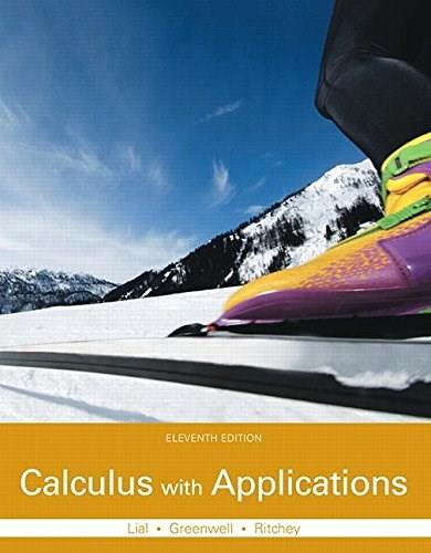 Calculus with Applications, by Lial, 11th Edition 11 PKG 9780133886832