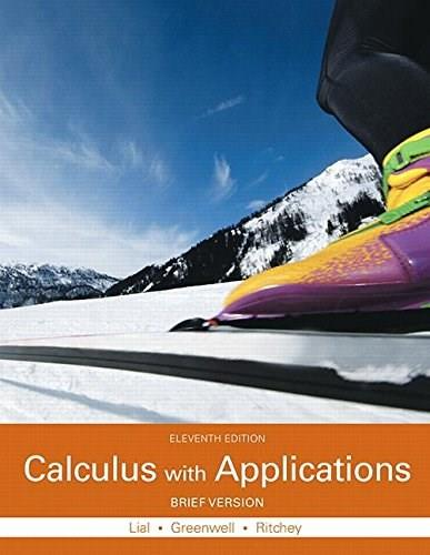 Calculus with Applications, Brief Version, by Lial, 11th Edition 11 PKG 9780133886863