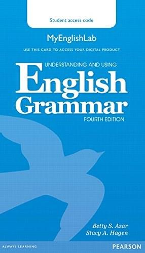 Understanding and Using English Grammar MyEnglishLab (Access Code Card) 9780133891355