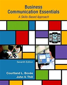 Business Communication Essentials (7th Edition) 9780133896787