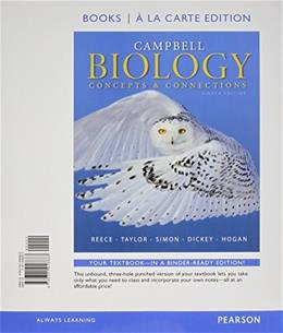 Campbell Biology: Concepts & Connections, Books a la Carte Plus Mastering Biology with eText -- Access Card Package (8th Edition) 8 PKG 9780133909029