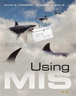 Using MIS (8th Edition) 9780133919868