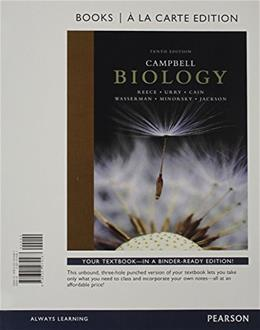 Campbell Biology, Books a la Carte Edition & Modified Mastering Biology with Pearson eText -- ValuePack Access Card -- for Campbell Biology 10 PKG 9780133936667