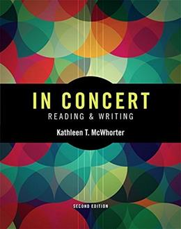 In Concert: An Integrated Approach to Reading and Writing (2nd Edition) 9780133956535