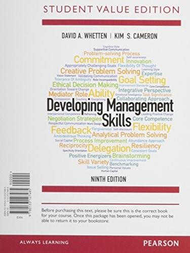 Developing Management Skills, Student Value Edition Plus MyManagementLab with Pearson eText -- Access Card Package (9th Edition) 9780133972986