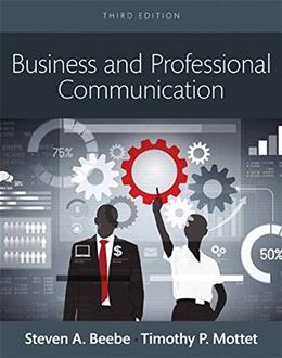 Business & Professional Communication, by Beebe, 3rd Books a la Carte Edition 9780133973488