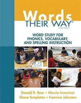 Words Their Way: Word Study for Phonics, Vocabulary, and Spelling Instruction (6th Edition) (Words Their Way Series) 6 PKG 9780133996333