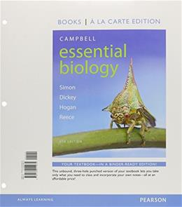 Campbell Essential Biology, by Simon, 6th Books a la Carte Edition 9780134014975