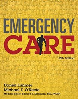 Emergency Care, by Limmer, 13th Edition 9780134024554