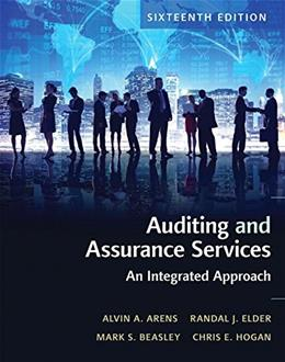 Auditing and Assurance Services, by Arens, 16th Edition 9780134065823