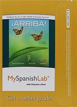 MySpanishLab with Pearson eText  for ¡Arriba! Comunicación y Cultura, by Zayas-Bazan, 6th Edition, Access Code Only 6 PKG 9780134071459
