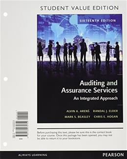 Auditing and Assurance Services, Student Value Edition (16th Edition) 9780134075754
