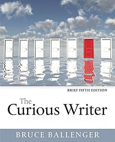 Curious Writer, by Ballenger, 5th Brief Edition 9780134080383