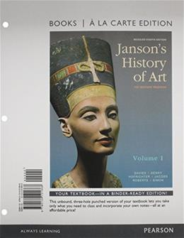 Jansons History of Art, by Davies, 8th Edition, Volume 1 9780134101668