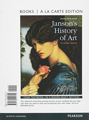 Jansons History of Art, by Davies, 8th Books a la Carte Edition, Volume 2 9780134101712