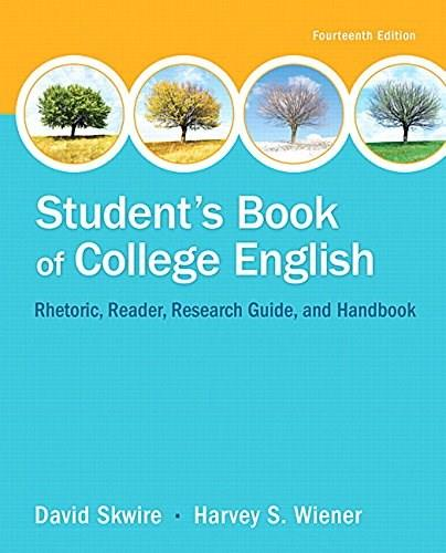 Students Book of College English, by Skwire, 14th Edition 14 PKG 9780134106168