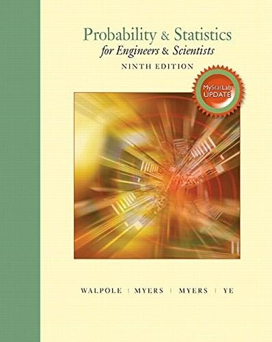 Probability and Statistics for Engineers and Scientists, by Walpole, 10th Edition 9780134115856