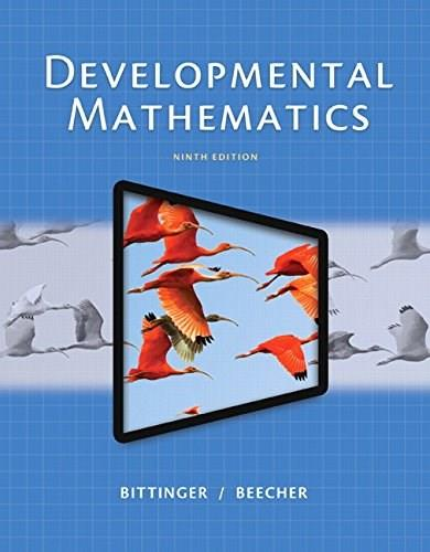 Developmental Mathematics, by Bittinger, 9th Edition 9 PKG 9780134115863