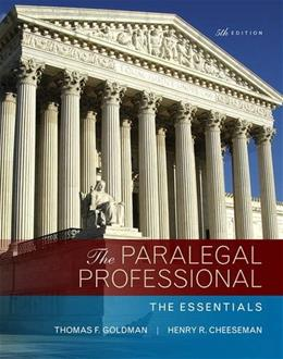 Paralegal Professional: The Essentials, The 5 9780134130866